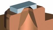 Bild 1: Silizium-Druckmess-Chip auf Trägermaterial