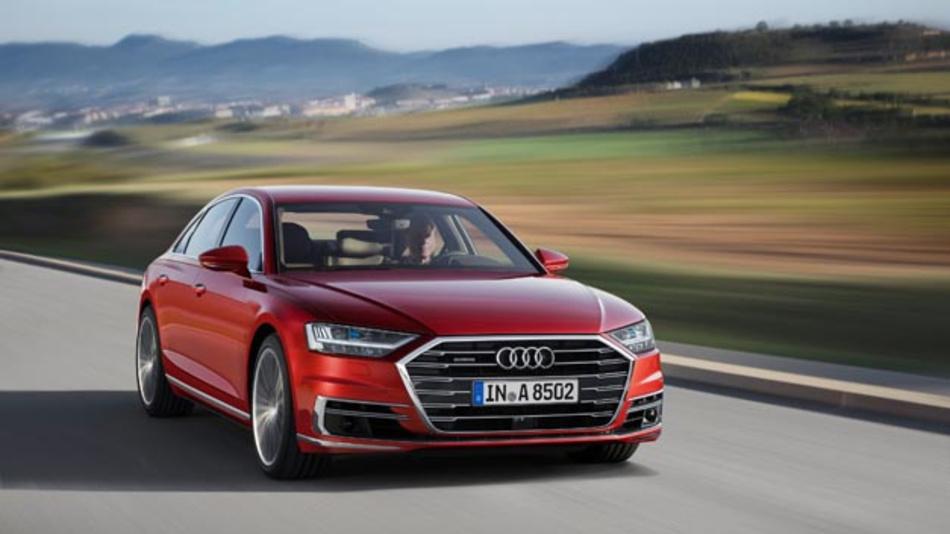 Auf dem ersten Audi-Summit Mitte Juli in Barcelona hat der Hersteller den neuen A8 vorgestellt.