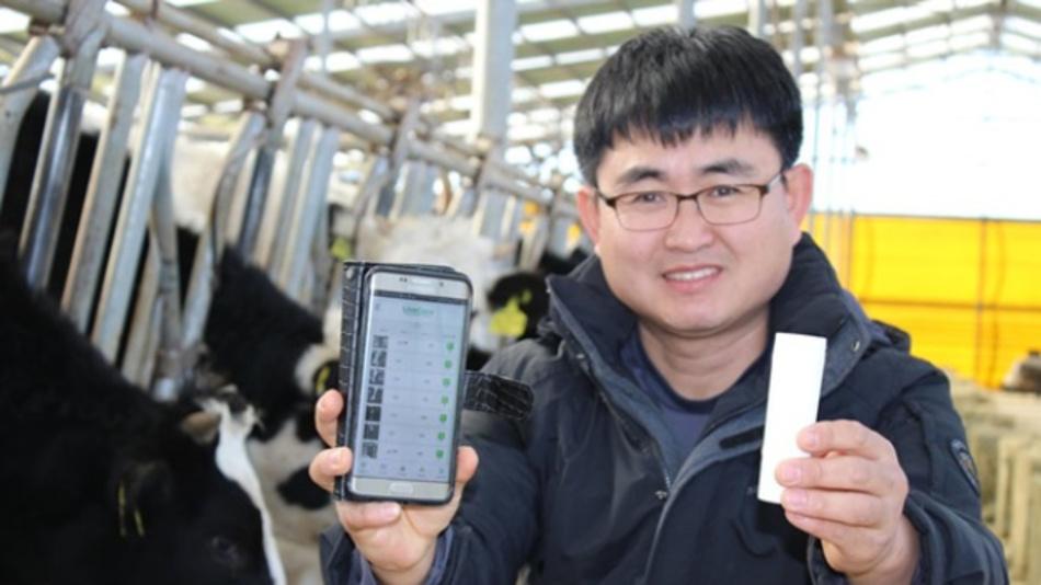 Der Farm-Besitzer Jo Sang-hoon hat das LiveCare-System von uLikeKorea für die Überwachung seiner Milchkühe eingesetzt du seit dem keine Geburt mehr verpasst sowie Todesfälle durch Verdauungsprobleme vermieden.