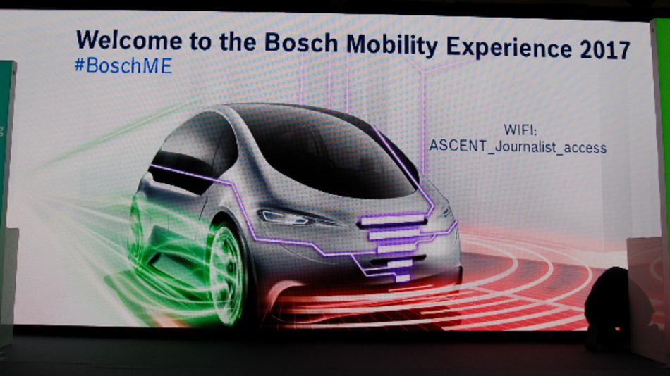 Eröffnung der Bosch Mobility Experience 2017.
