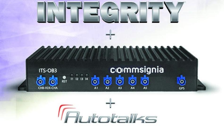 Gemeinsame Plattform für sicher vernetzte Fahrzeuge von Green Hills Software, Commsignia und Autotalks