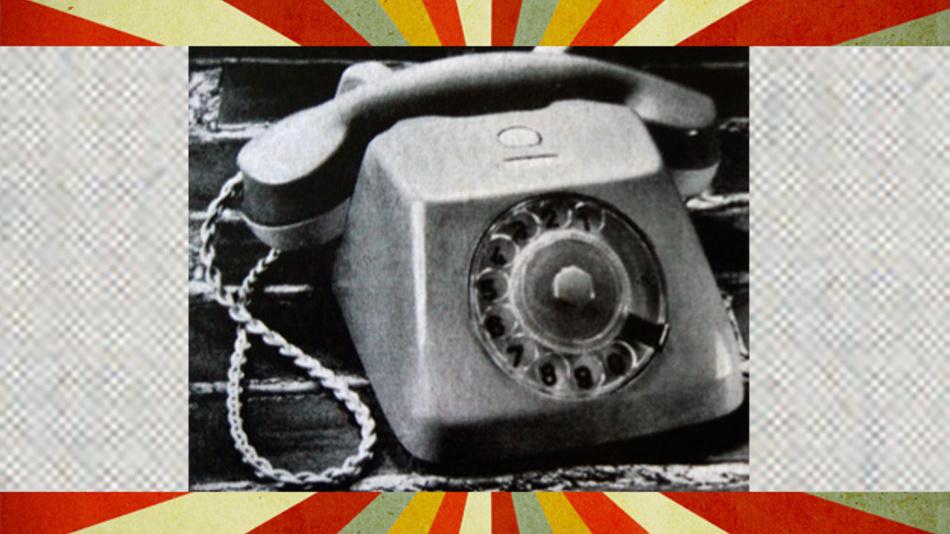 Im Jahr 1958 der Inbegriff der Schönheit: der Tischfernsprecher von Telefonbau und Normalzeit.