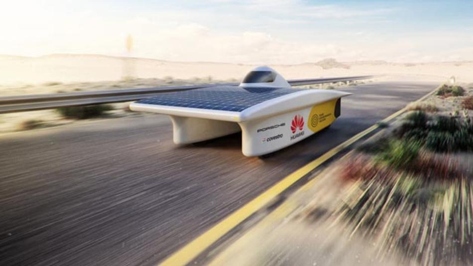 Porsche unterstützt das Team Sonnenwagen der RWTH Aachen, die sich mit ihrem Solarrennwagen im Oktober der Bridgestone World Solar Challenge in Australien stellen.