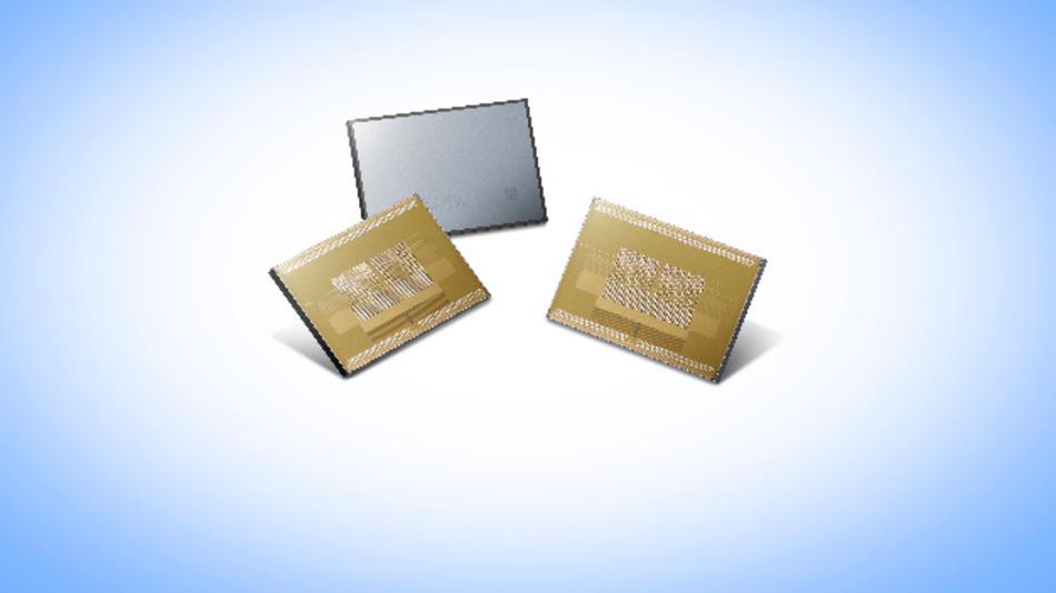 Samsungs Speicher-Chip 8GB-HBM2-DRAM erreicht dank HBM2-Interface eine Datentransferrate von 256 GByte/s.