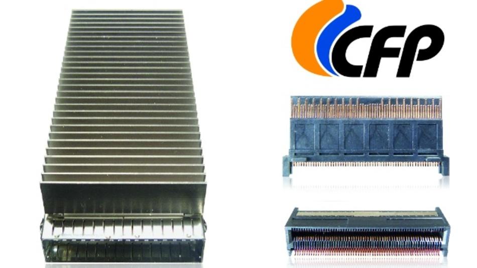 Der CFP8-Steckverbinder ist einer der wenigen Steckverbinder, mit denen sich 400 GBit/s Datenübertragungsrate realisieren lassen.