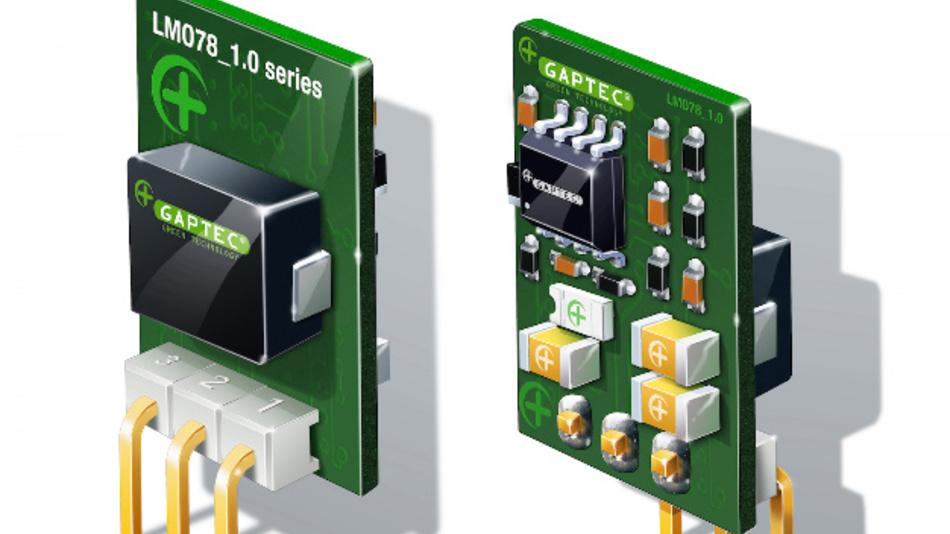 SIP3 Open Frame Schaltregler der Serie LM078 von GAPTEC