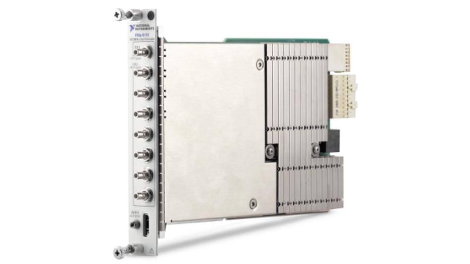 Das PXIe-5172 ist ein flexibles 8-Kanal-Oszilloskop mit anwenderprogrammierbarem FPGA.