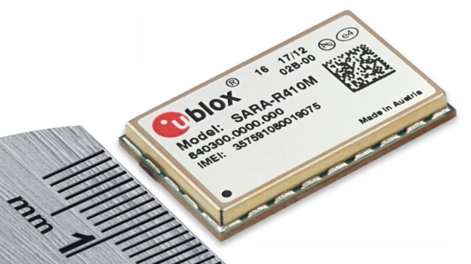 In einem LGA-Gehäuse ist das LTE-Cat-M1/NB1-Modul SARA-R410M-02B von u-blox untergebracht.
