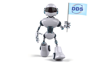 Roboter mit DDS-Flagge