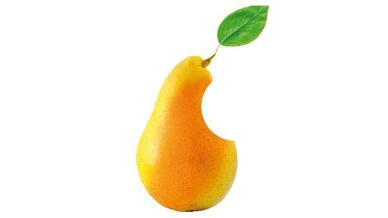 Fake-Produkt Apfel Birne