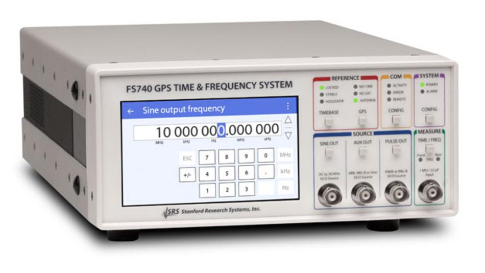 Der FS740 nutzt das GPS-Signal zur Verbesserung der Langzeitstabilität.