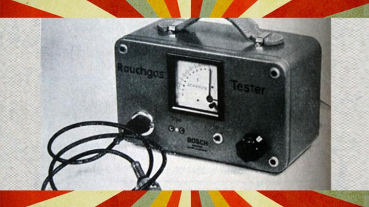 Im Jahr 1958 stellte Bosch einen Rauchgastester zur Prüfung von Dieselmotoren vor.