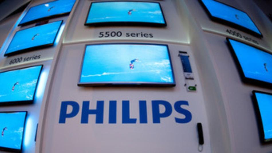 Zum Portfolio von Philips gehören auch Flachbildschirme. Diese stellte das Unternehmen anlässlich einer Internationalen Funkausstellung vor.