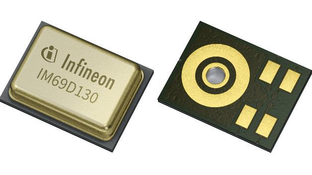 Im Vergleich zu einem herkömmlichen MEMS-Mikrofon verbessert die Infineon-Technologie das SRV um 6 dB auf 70 dB. Damit verdoppelt sich die Entfernung, von der aus das Mikrofon die Sprachbefehle eines Benutzers noch sauber erfassen kann.