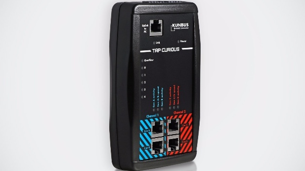 TAP Curious, der Echtzeit-Ethernet-Analysator von Kunbus.