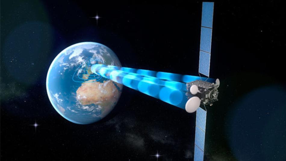 Der Heinrich-Hertz-Satellit soll im All als Relais für erdnahe Satelliten dienen.