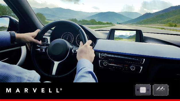 Marvell präsentiert Automotive Gigabit Ethernet Switch.