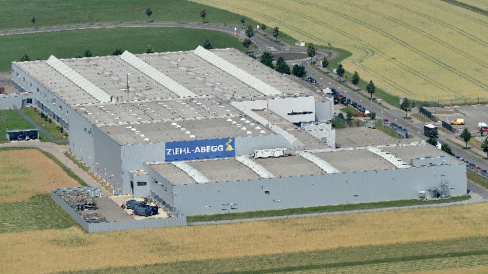 Bereits Ende 2017 will Ziehl-Abegg im neuen Produktionswerk ZA Kupferzell Radial-Ventilatoren fertigen.