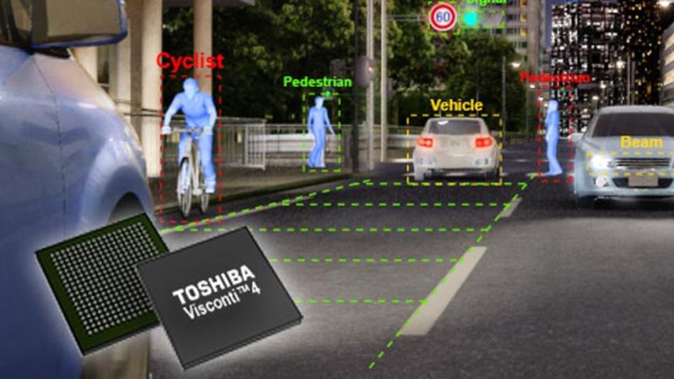 Denso setzt auf den Bilderkennungs-Prozessor Visconti 4 von Toshiba.