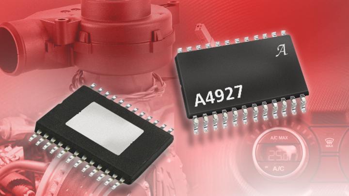 Der n-Kanal-Leistungs-MOSFET-Treiber A4927 von Allegro MicroSystems integriert einen Ladungspumpenregler.