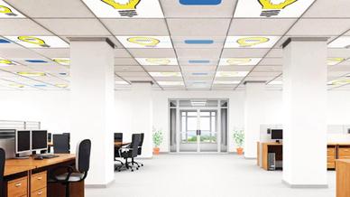 Hell beleuchtetes Büro