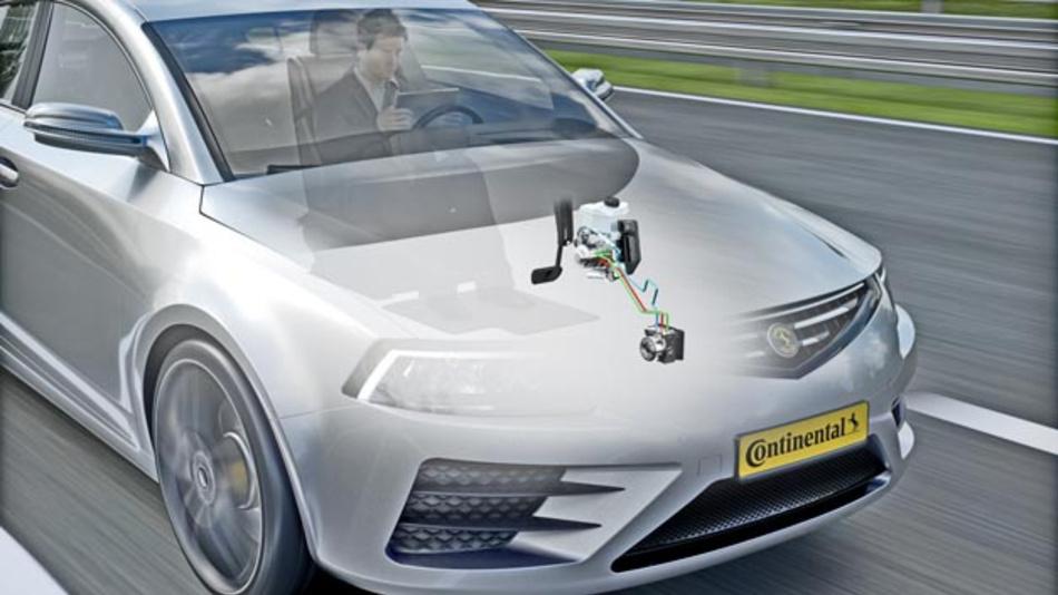 Continental kombiniert die MK C1 für hochautomatisiertes Fahren mit der MK 100-basierten Hydraulic Brake Extension und erzielt so eine redundante Rückfallebene.