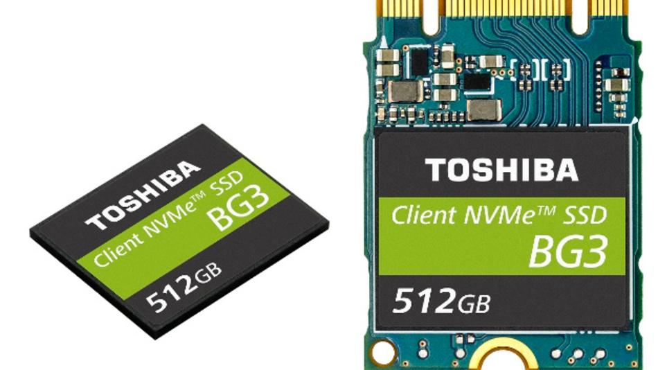 Die neuen SSDs arbeiten auf Basis der neusten 3D-NAND-Flash-Speicher ICs von Toshiba.