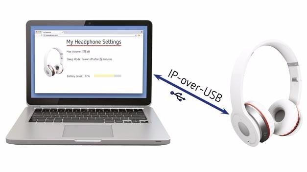 Geräte konfigurieren und Statusinformationen anzeigen mit IP over USB.
