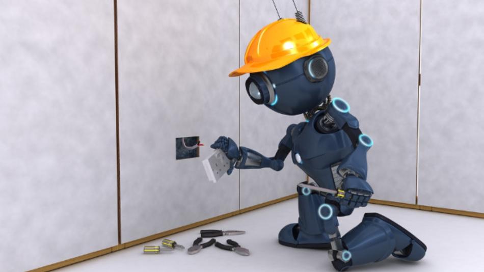 Ein Elektriker-Roboter? Mehr als die Hälfte der Deuschen hoffen auf Unterstützung durch Roboter im Haushalt und an der Arbeitsstelle.