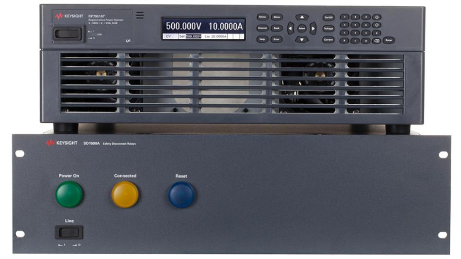 Keysights ganzheitlicher Powertrain integriert eine bidirektionale Quelle und ein Sicherheitssystem.