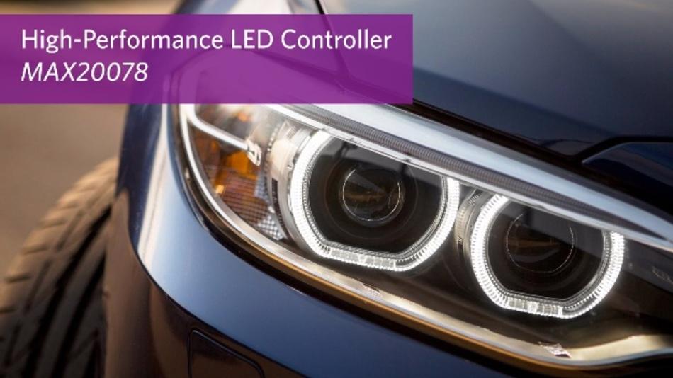 Synchroner Abwärtsregler MAX20078 von Maxim für High-Brightness-LEDs