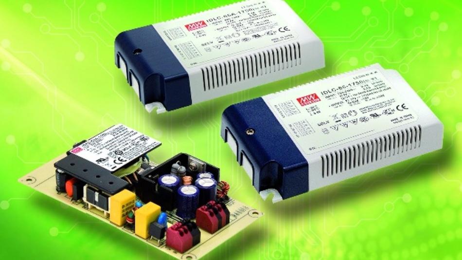 Zwei neue 65-W-Konstant-Strom-LED-Treiber von Mean Well (Vertrieb: Emtron)