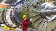 Montage der SGT5-8000H im Gasturbinenwerk Berlin
