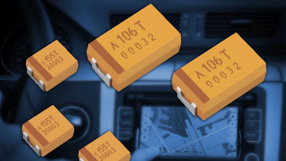 Schematische Dartesllung der Polymer Tantal Chip Kondensatoren von AVX