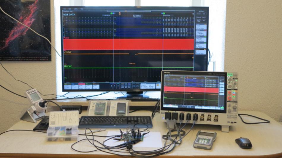 Bild 6a: Displaydebugging auf dem UHD-Monitor...