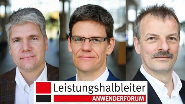 Infineon unterstützt das Anwenderforum Leistungshalbleiter mit hochkarätigen Sprechern: Dr. Peter Friedrichs, Dr. Peter Wawer und Dr. Martin Schulz (v.l.n.r.)