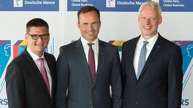 Die Vorstandsmitglieder der Deutschen Messe AG