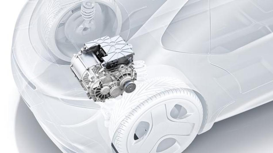 Die eAchse integriert Motor, Leistungselektronik und Getriebe in einem Gehäuse. Damit sorgt sie für eine höhere Effizienz von Elektro- und Hybridfahrzeugen.