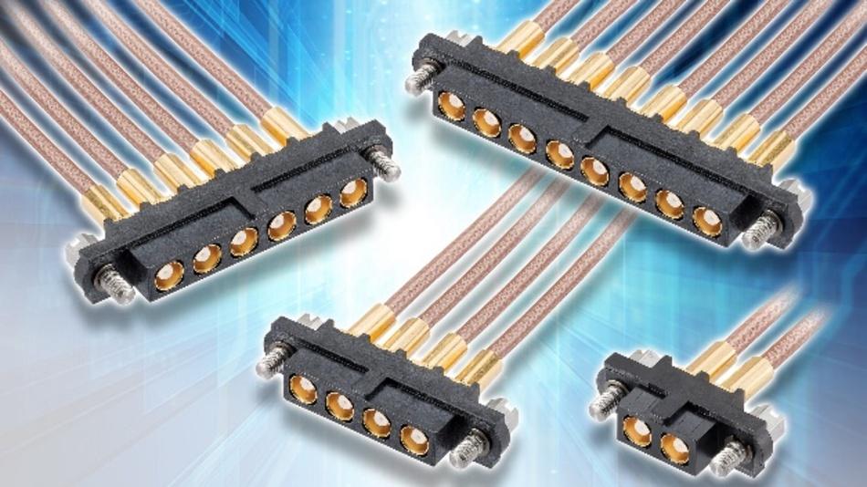 Robuste 50-Ohm-Multiport-Koaxialsteckverbinder & konfektionierte Kabel