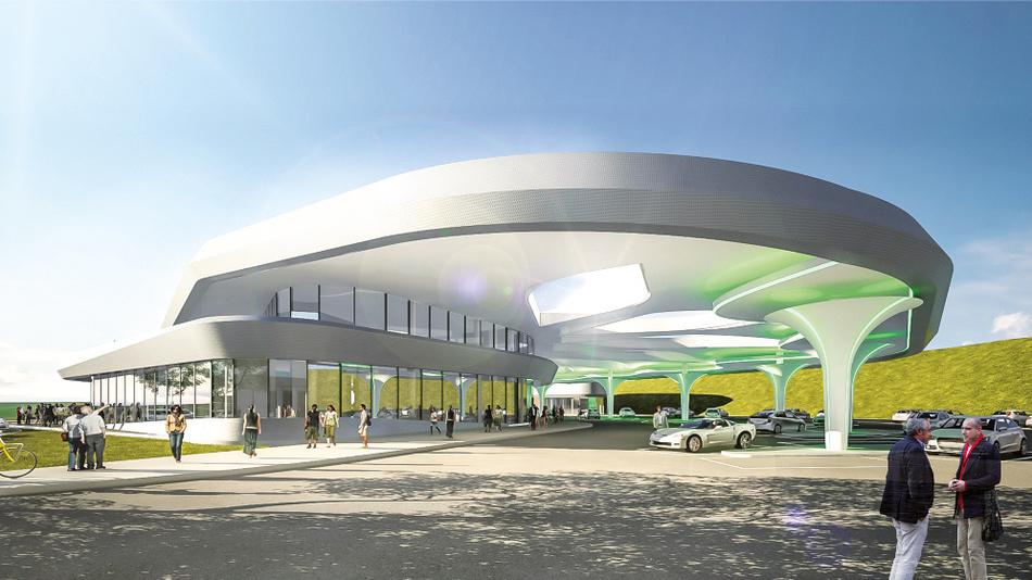 Visualisierung des Projekts Sortimo Innovationspark.