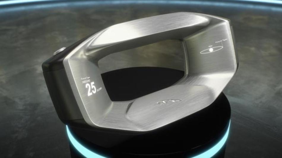 Alles, was ein Fahrer im Jahr 2040 noch benötigt ist ein (intelligentes) Lenkrad, wie »Sayer« von Jaguar Land Rover.