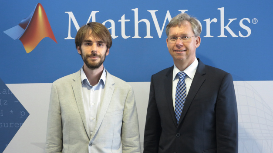 Dr. Hans Martin Ritt (rechts) im Interview mit DESIGN&ELEKTRONIK zur Matlab Expo 2017.