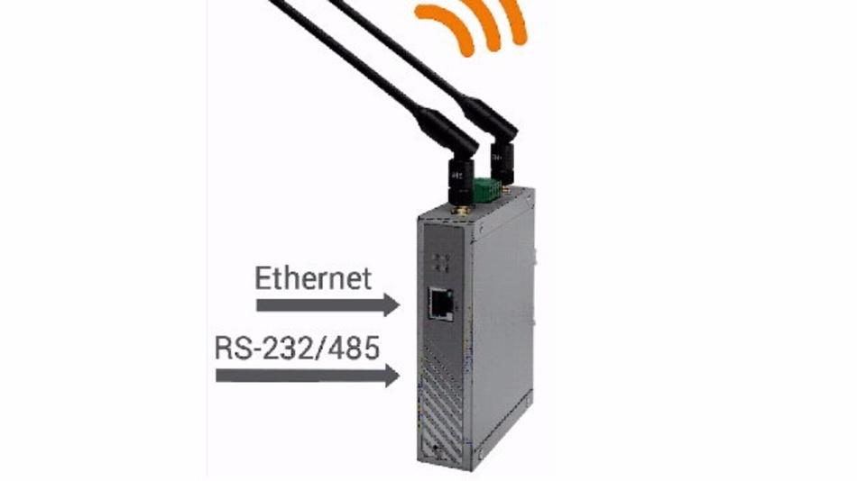 IOP760AM ist ein Konverter von ICPDAS, der mobile Geräte mit RS232/485 ins WLAN bringt.