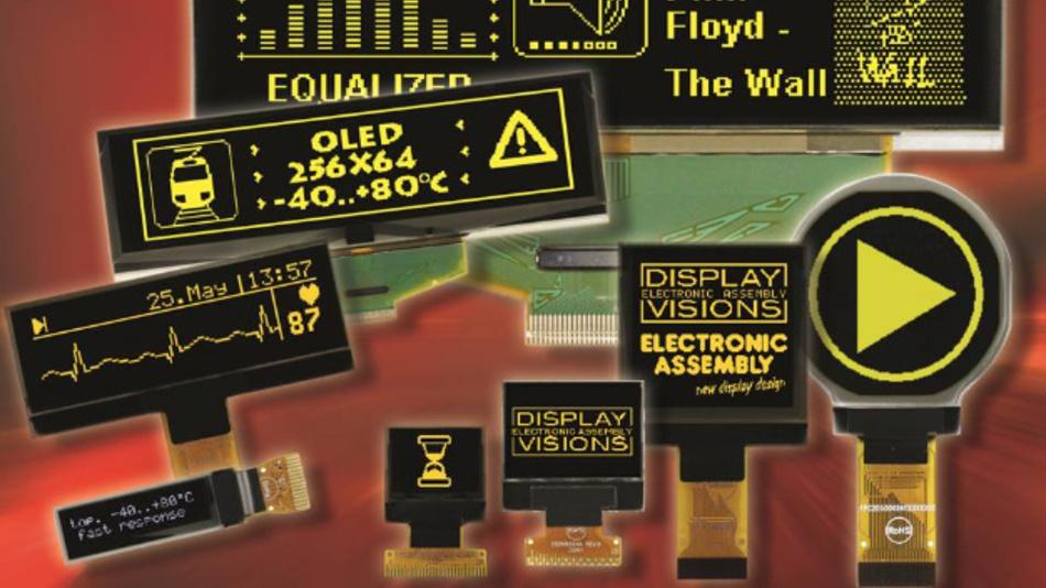In den Formen rund, quadratisch und rechteckig offeriert Electronic Assembly ein breites Portfolio an energieeffizienten OLED-Displays, auf denen sich grafische und alphanumerische Elemente kombinieren lassen.