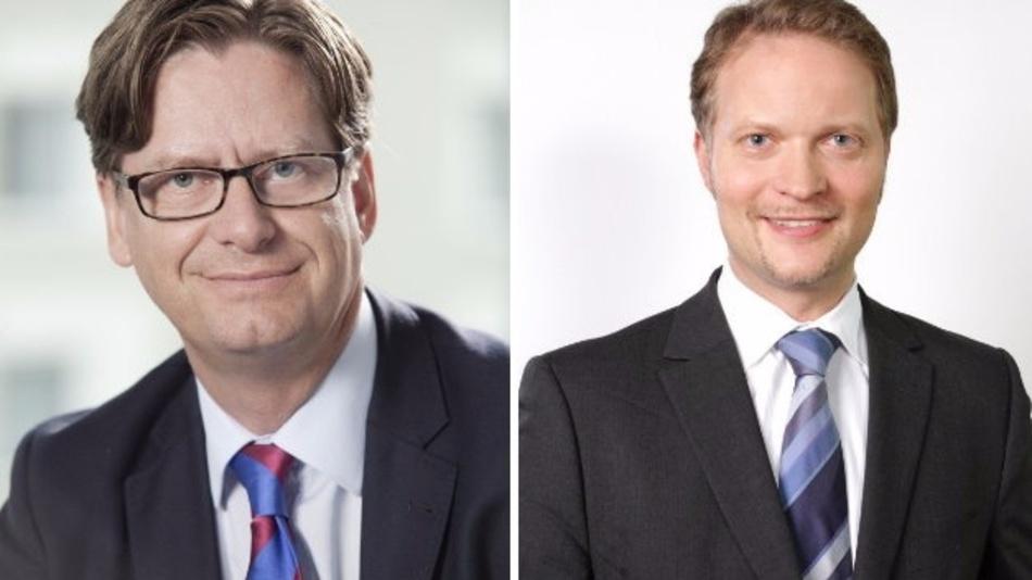 Dr. Tobias Weiler (r.) übergibt die Spectaris-Geschäftsführung an Jörg Mayer