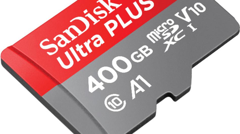 Mit einer Geschwindigkeit von bis zu 100 MByte/s lassen sich 400 GByte an Daten auf Western Digitals rund 250 Euro teure microSD-Karte übertragen.