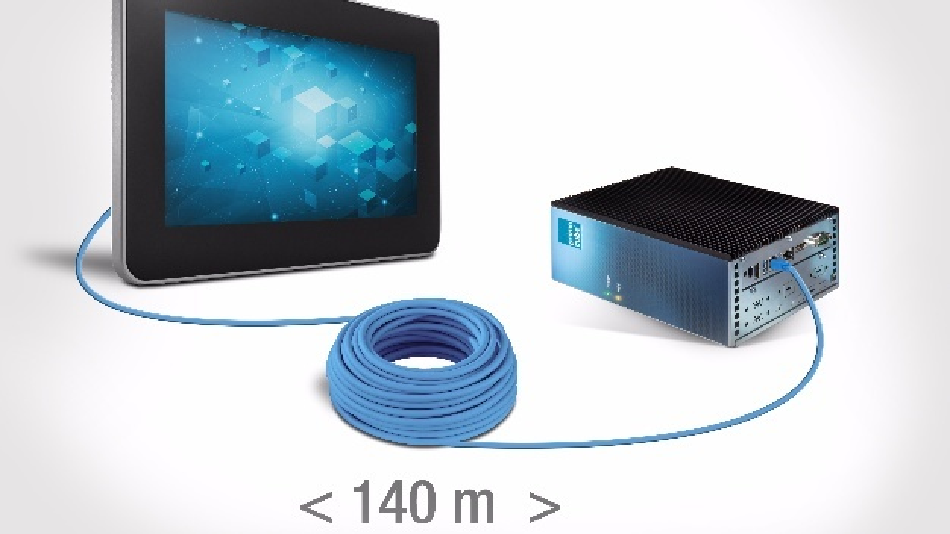 Sowohl die Datenübertragung als auch die Energieversorgung des Touch-Displays ist per SSE-Link realisierbar.