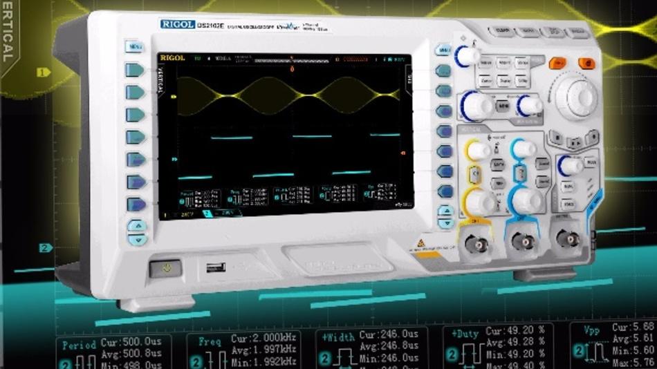Die Oszilloskope der DS2000E-Serie von Rigol eignen sich als Allrounder für eine Vielzahl unterschiedlicher Anwendungen
