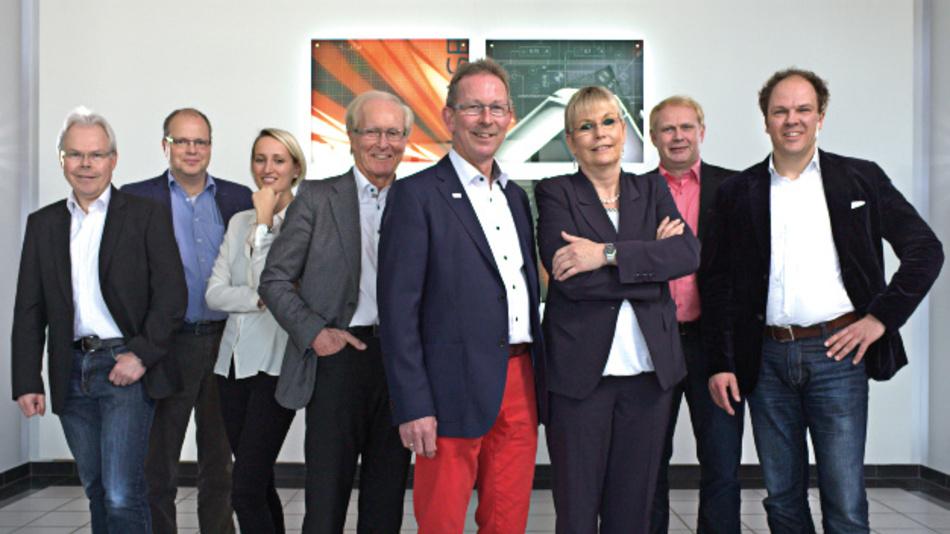 Rolecs Führungsteam (v.l.n.r.): Volker Borcherding, Bernd von der Lippe, Lara Hild, Friedhelm Rose, Matthias Rose, Betty Rose, Ralf Cordt und Thomas Fischer