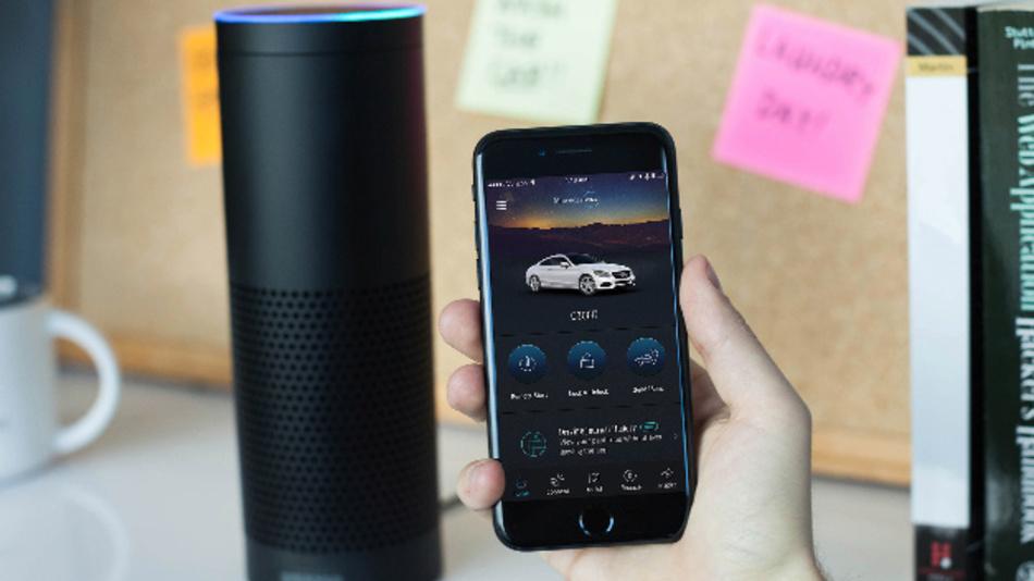 Vernetzte Alexa-Funktionen im Fahrzeug.